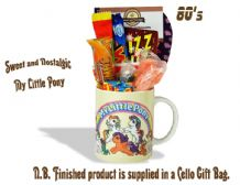 My Little Pony Mug with/without a Giddy Up portion of 80's Retro Sweets.